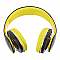 JKR-213B Extra Bass Bluetooth fejhallgató, sárga-fekete