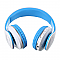 JKR-213B Extra Bass Bluetooth fejhallgató, kék-fehér