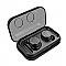 TWS-8 Sztereó Bluetooth headset, fekete
