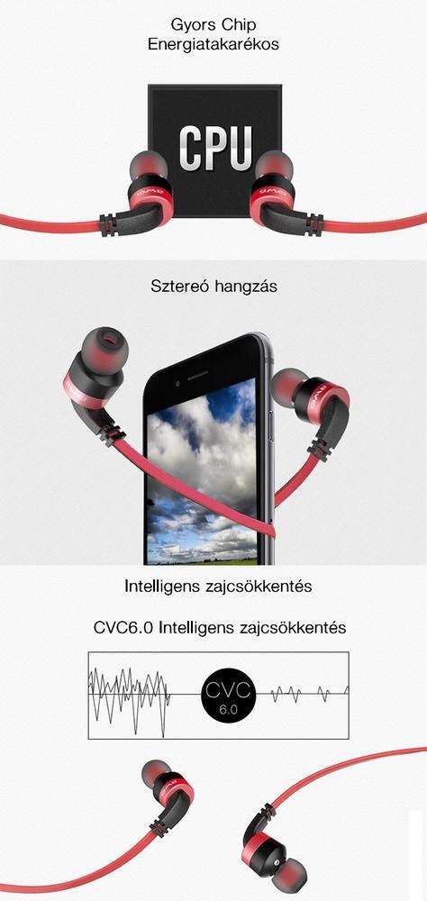 Awei A960BL Bluetooth sport sztereó headset és fülhallgató