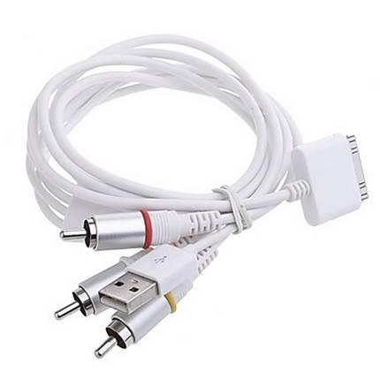 WPOWER Apple kompozit AV kábel 1.5m, fehér, V6.12
