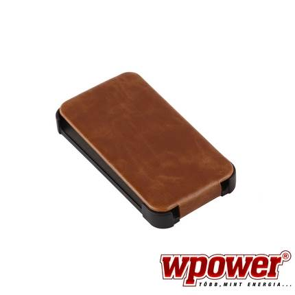 Apple iPhone 4/4S valódi bőr telefontok, barna