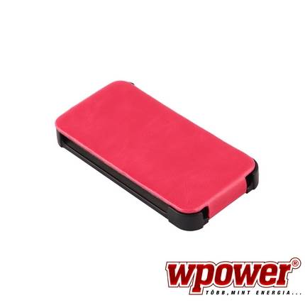 Apple iPhone 4/4S valódi bőr telefontok, hot-pink