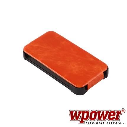 Apple iPhone 4/4S valódi bőr telefontok, narancs