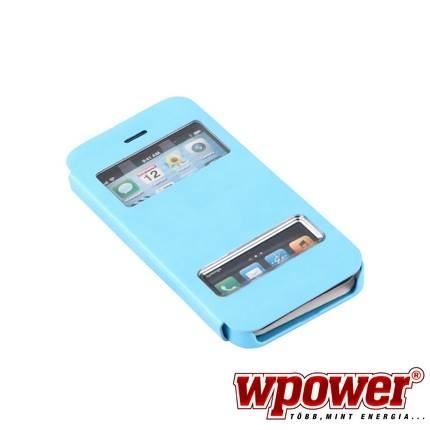 Apple iPhone 5S műbőr telefontok, kék