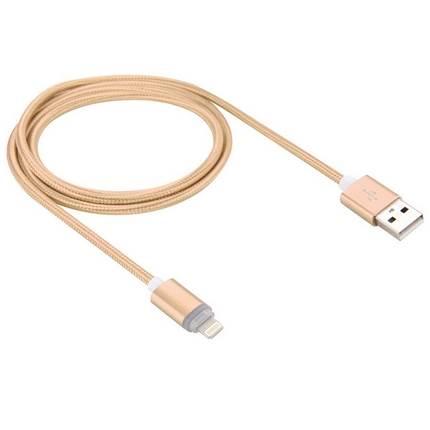 Lightning - USB2.0 kábel LED-es állapotjelzéssel 1.0m, arany