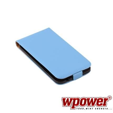 Samsung Galaxy S5 valódi bőr telefontok, kék (3468)