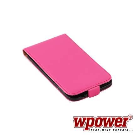 Samsung Galaxy S5 valódi bőr telefontok, hot-pink (3468)