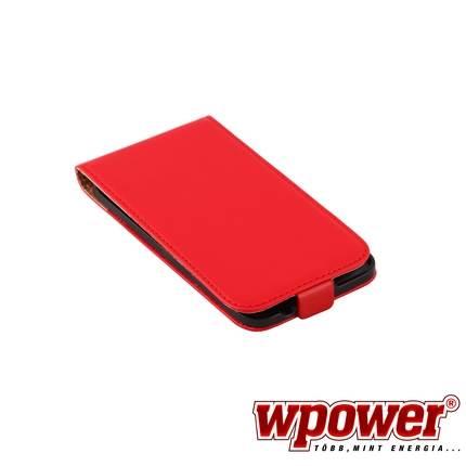 Samsung Galaxy S5 valódi bőr telefontok, piros (3468)