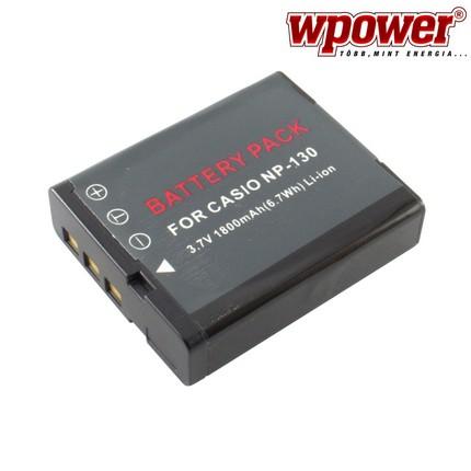 Casio NP-130 akkumulátor 1800mAh, utángyártott