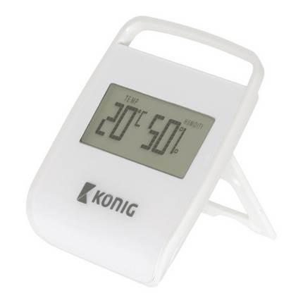 König digitális hőmérséklet és páratartalom mérő, fehér