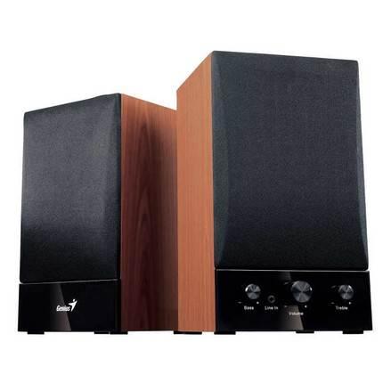 Genius SP HF 1250B sztereó, fadobozos hangszóró