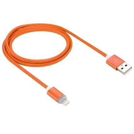 Lightning - USB2.0 kábel LED-es állapotjelzéssel 1.0m, narancs