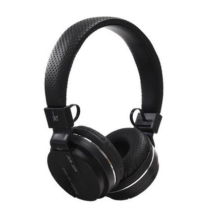 JKR 109 vezetékes fejhallgató mikrofonnal, fekete