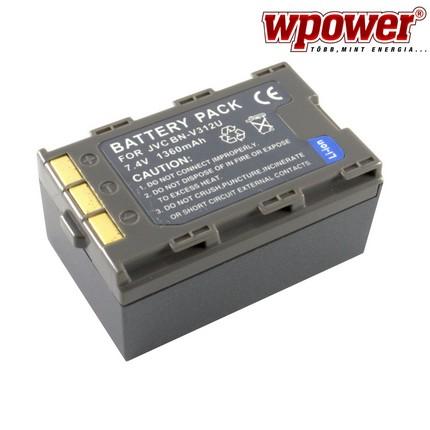 JVC BN-V312U akkumulátor 1360mAh, utángyártott