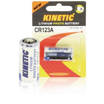 Kinetic CR123A Lithium fotó elem 3V, 1200mAh