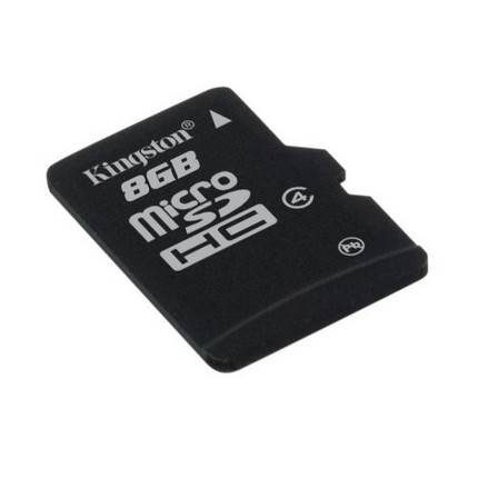 Kingston Micro SDHC 8GB memóriakártya Class4