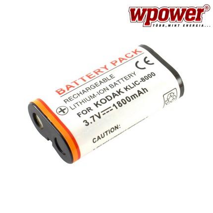 Kodak KLIC-8000 akkumulátor 1800mAh, utángyártott