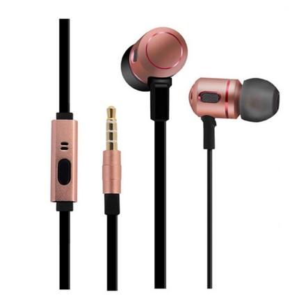 Mingge M8100 vezetékes headset, rózsa-arany