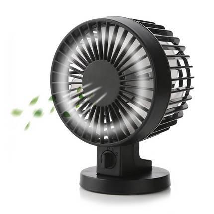 Mini asztali ventilátor USB csatlakozással, fekete