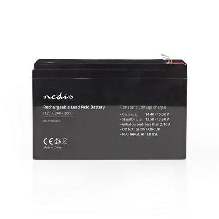 Nedis ólomsavas akkumulátor 12V 7.2Ah
