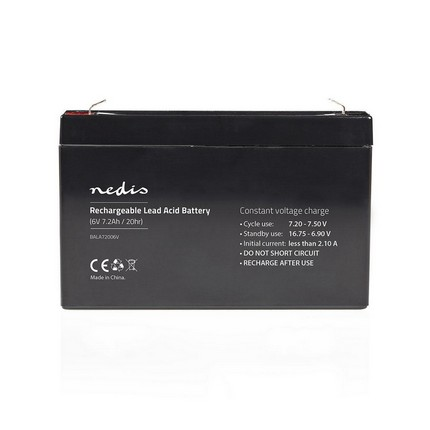 Nedis ólomsavas akkumulátor 6V 7.2Ah