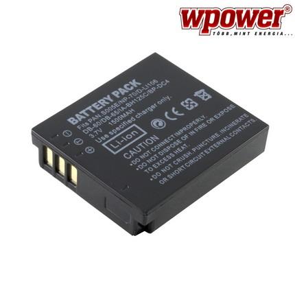 Panasonic CGA-S005E akkumulátor 1500mAh, utángyártott
