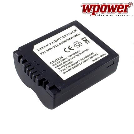 Panasonic CGA-S006 akkumulátor 1500mAh, utángyártott