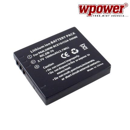 Panasonic CGA-S008E akkumulátor 1000mAh, utángyártott