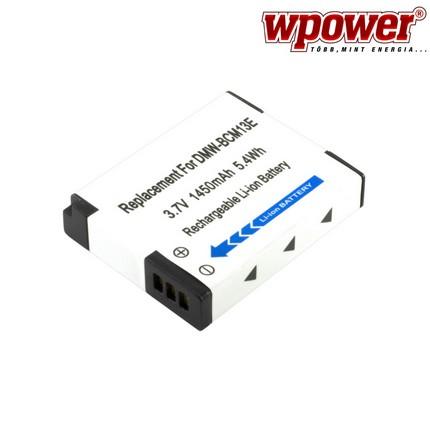 Panasonic DMW-BCM13E akkumulátor 1450mAh, utángyártott