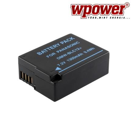 Panasonic DMW-BLC12 akkumulátor 1300mAh, utángyártott