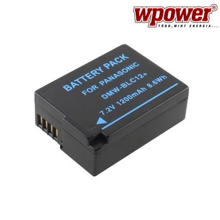Panasonic DMW-BLC12 akkumulátor 1200mAh, utángyártott