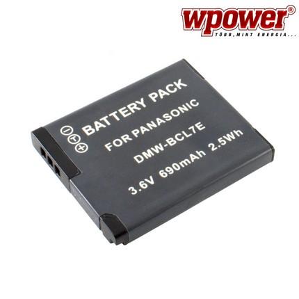 Panasonic DMW-BCL7E akkumulátor 690mAh, utángyártott