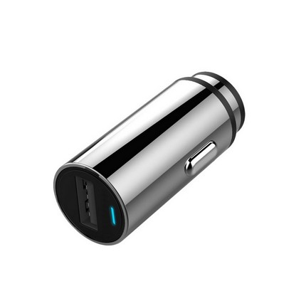 Smart QC3.0 autós USB töltő 24W, ezüst