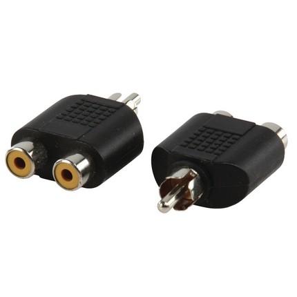 RCA apa - 2xRCA anya adapter
