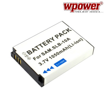Samsung SLB-10A akkumulátor 1050mAh, utángyártott
