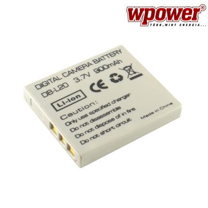 Sanyo DB-L20 akkumulátor 900mAh, utángyártott