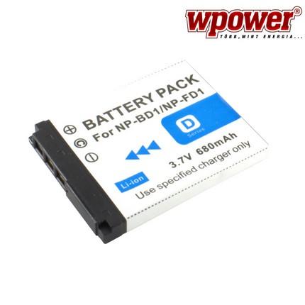 Sony NP-BD1 akkumulátor 680mAh, utángyártott