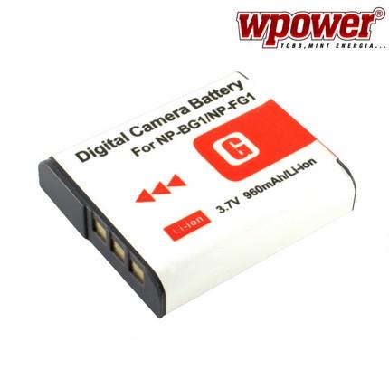 Sony NP-BG1 akkumulátor 960mAh, utángyártott