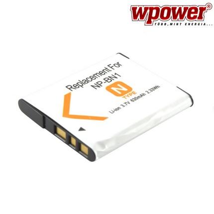 Sony NP-BN1 akkumulátor 630mAh, utángyártott