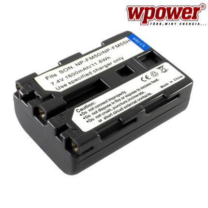 Sony NP-FM50 akkumulátor 1600mAh, utángyártott