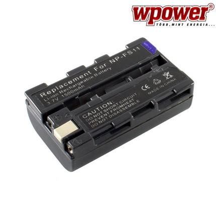 Sony NP-FS11 akkumulátor 1500mAh, utángyártott
