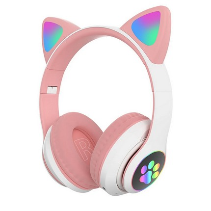 Macskafüles fejhallgató STN-28, pink