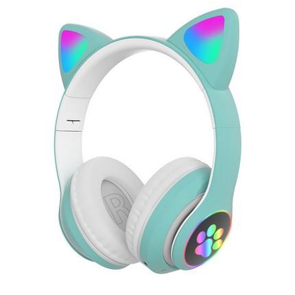 Macskafüles fejhallgató STN-28, zöld