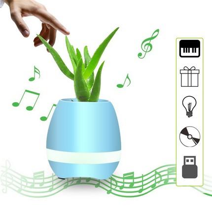 Tokqi K3 okos virágváza és Bluetooth hangszóró, kék