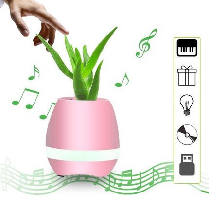 Tokqi K3 okos virágváza és Bluetooth hangszóró, pink