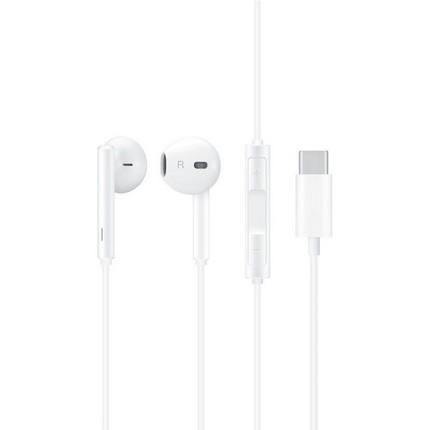 Type-C csatlakozású fülhallgató, fehér