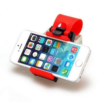 Autó kormányra rögzíthető telefontartó