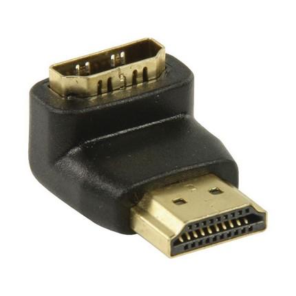 Valueline HDMI könyök adapter 90 fokban elforgatott, aranyozott