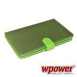 """WPOWER 8"""" Billentyűzetes Tablet tok, mintás, zöld, EN-HU"""